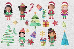 Cute Christmas Clipart, Merry Christmas Girls Clipart Product Image 4