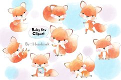 Baby fox clipart. Product Image 1