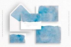 Azure Watercolor Wedding Invitation Suite Product Image 3