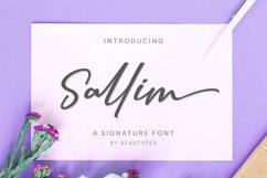 Sallim   Signature Font Product Image 1
