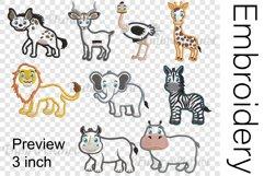 Applique Safari Animals - Embroidery Files - 1489e Product Image 2