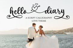 Hello Diary - Lovely Theme Calligraphy Product Image 1