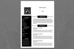 Black and White Modern Resume Product Image 1