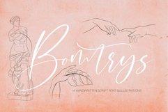 Bomtrys Script Font & Illustrations Product Image 1
