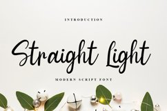 Straight Light | Modern Script Font Product Image 1