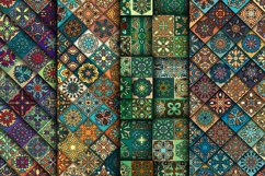 Tile mosaic seamless patterns collection Product Image 4