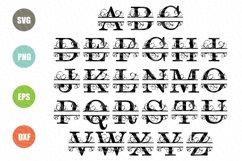Split Letters A-Z SVG, Alphabet Letters A-Z Product Image 2