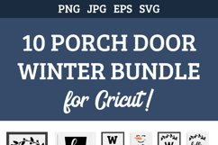 10 Porch door winter signs bundle, welcome signs, snowman Product Image 3