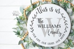 This Is Us Monogram Last Name Round Wreath Sign SVG DXF EPS Product Image 2