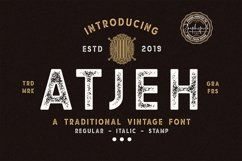 Atjeh - A Traditional Vintage Font | 4 Font Files Product Image 1