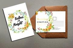 Floral Wedding Postcard Product Image 1
