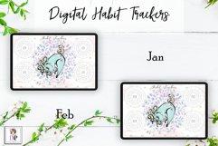 Digital Habit Trackers Y10 Yoga Series for Planner PRINTABLE Product Image 2