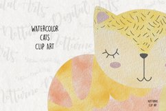 Watercolor Cat Clipart. Set of 10 png digital clipart Product Image 3