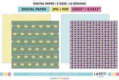 Summer digital scrapbbok papers | Pool decorative wallpaper Product Image 6