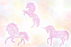 Unicorn Quotes SVG Cut Files Pack Product Image 5