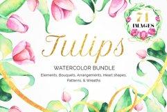 Tulips Watercolor Floral Bundle Product Image 1