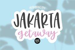 JAKARTA GETAWAY a Cute Handwritten Font Product Image 1