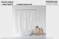 Bath Curtain Mockup Pack Product Image 4