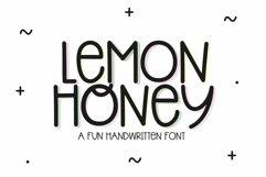 Web Font Lemon Honey - A Quirky Handwritten Font Product Image 1