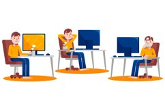 Work From Home Vector Graphic Set 05 Product Image 3