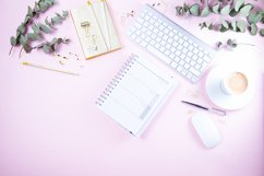 Flat lay home office workspace Product Image 1