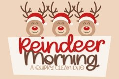 Web Font Reindeer Morning - A Font Duo Product Image 1