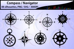 Compass Silhouette / compass svg files / compass vector Product Image 2