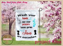 Sign SVG | Wash And Pray Bubbles Reminder Quote Product Image 2