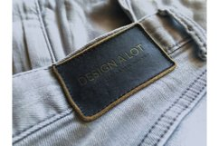 Engraved Dark Brown Leather Label Product Image 1