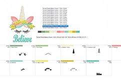 Unicorns Australian Wattle Machine Embroidery Design in 2 s Product Image 3