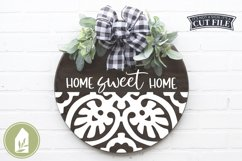 Home Sweet Home SVG Files, Round Tile Sign SVG Product Image 1