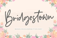 Bridgestown Monoline Handwritten Font Product Image 1