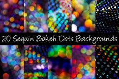 20 Sequin Bokeh Shiny Dots and Spots Background Photographs Product Image 1