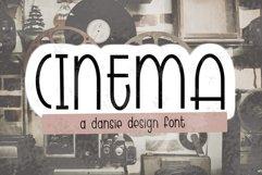 CINEMA font - regular outline - Crafter Font Product Image 1