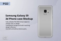 Samsung Galaxy S9 3d Phone Case Mockup Product Image 1