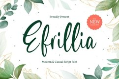 Efrillia - Modern and Casual Script Font Product Image 1