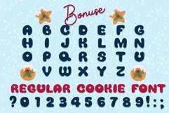 Xmas cartoon cookie font family Product Image 4