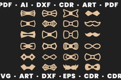 Wood bow tie svg for man and woman, Dxf files for Cnc files Product Image 1