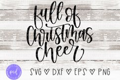 Full of Christmas Cheer Hand-Lettered Cut File Product Image 2