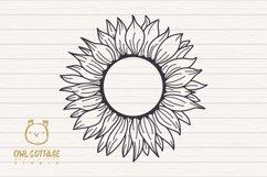 Sunflower Monograms svg, Sunflower mini bundle, Sunflower cl Product Image 3