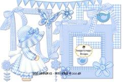 Blue Gingham Scrap Kit Product Image 1