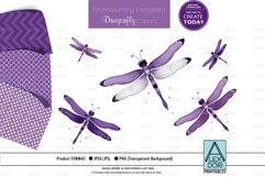 Purple Dragonfly PNG, Clipart Set Product Image 1