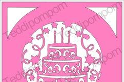 Happy Birthday Cake Frame SVG Product Image 1