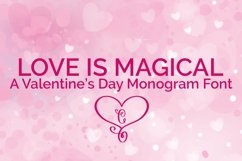 Web Font Love is Magical - A Valentine's Day Monogram Font Product Image 1
