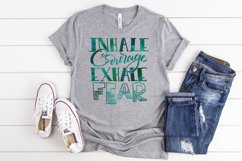 Inhale Courage Exhale Fear SVG Cut File Product Image 2