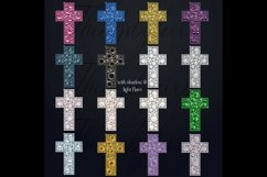 32 Diamond Pearl Rhinestone Christian cross religious Easter Product Image 5