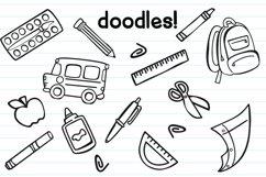 Schoolish Monogram Maker| Back to school font|Free Doodles Product Image 3
