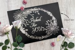 Floral Scribble Frames - Single line Designs  Foil Quill Product Image 2