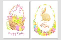 Happy Easter invitations and cards vector set Product Image 3