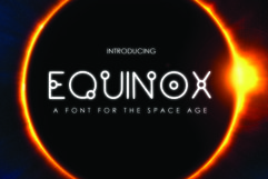 EQUINOX - A Font for the Space Age Product Image 1